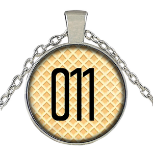 Stranger Things Millie Eleven's 011 Necklace Classical Logo