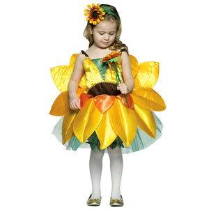 Sun Flower One Piece Dress Costume Halloween Cos for Girls