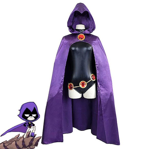 Teen Titans Raven Cloak Costume Maillot and Costume Halloween Costume Party Props