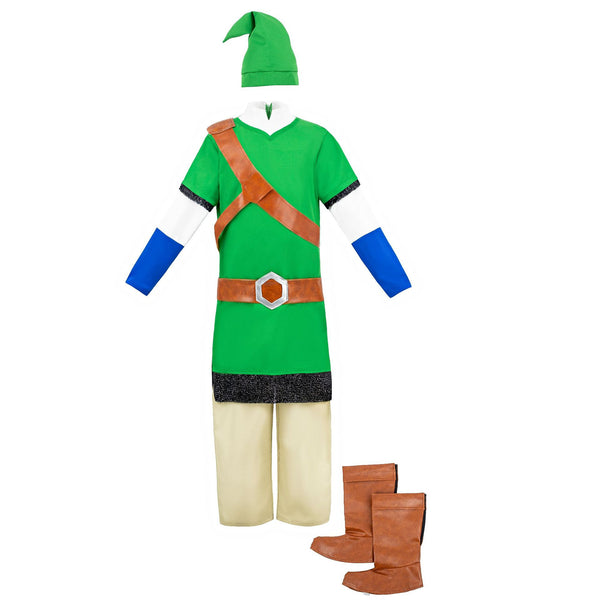 The Legend of Zelda Link Costume Suit Halloween Party Prop for Kids