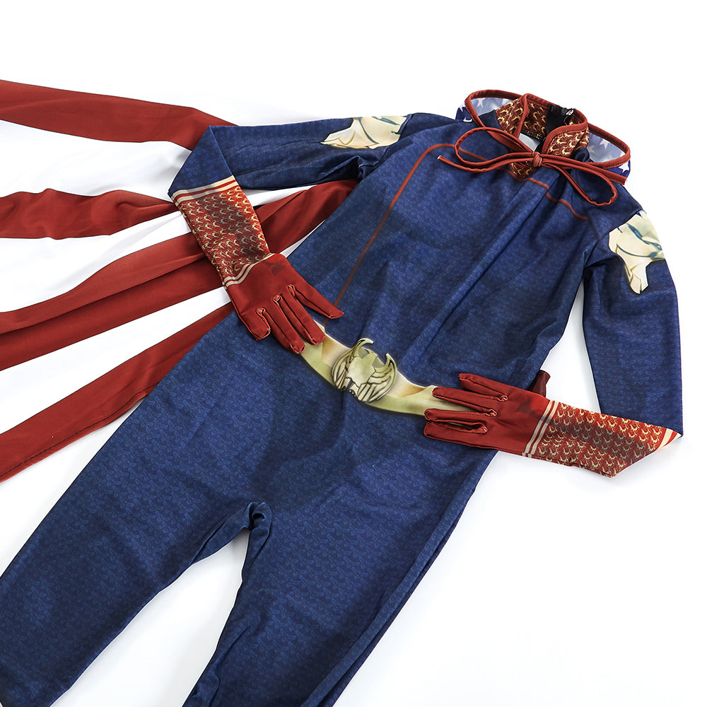 The Boys Homelander Cosplay Costume with Cape Jumpsuit ...
