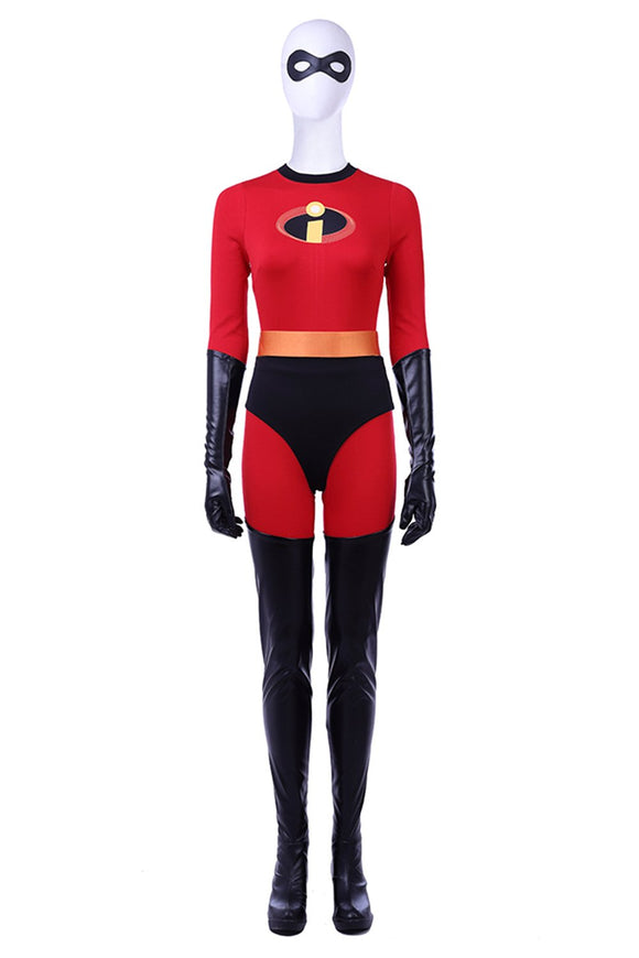 The Incredibles 2 Helen Parr Elastigirl Mrs Incredible Red Jumpsuit Cosplay Costume