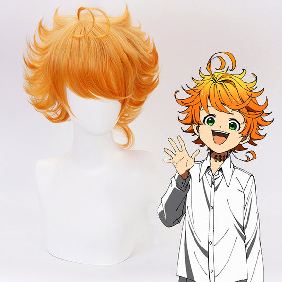 The Promised Neverland Emma Wig Cosplay Wigs Orange Curly Wig Hairpiece  Halloween Cosplay
