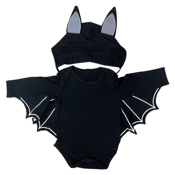 Toddler Batman One Piece Jumpsuit and Hat Cosplay Costume