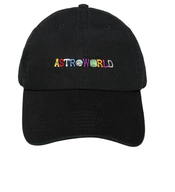 Travis Scott Astroworld Black Hat Baseball Hat Caps Adjustable Hip Hop Sun Hat