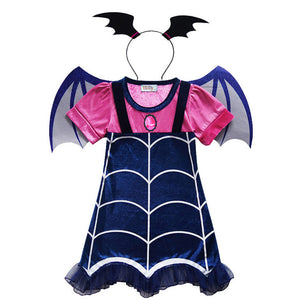Vampirina Cosplay Dress Girls Dress Cosplay Dress Party Dress Cosplay Costume with Accessories