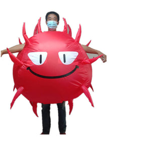Virus Inflatable Costume Halloween Cos Prop with Face Cover
