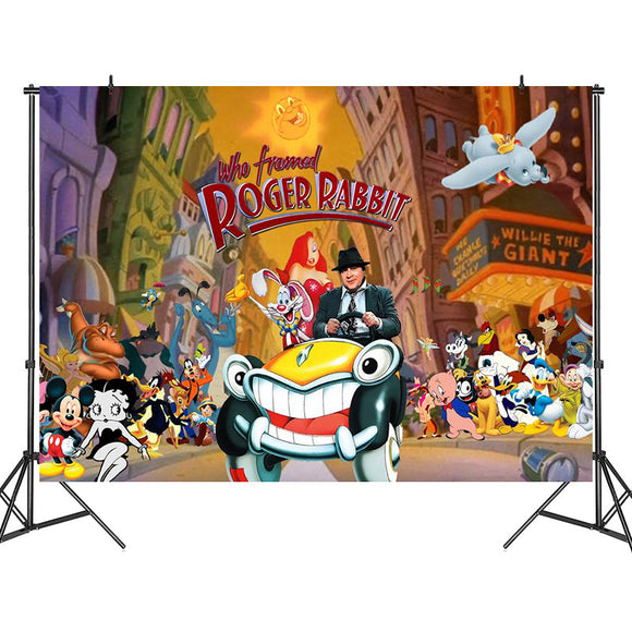 WHO FRAMED ROGER RABBIT HALLOWEEN BACKDROP CURTAIN BACKGROUND PARTY WALL