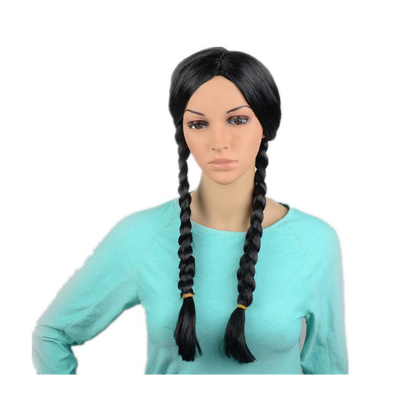 Wednesday Addams Addams Family Cosplay Black Wig for Kids and Adult