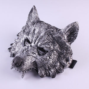 Your Are The Next Mask Halloween Gray Wolf's Head Mask