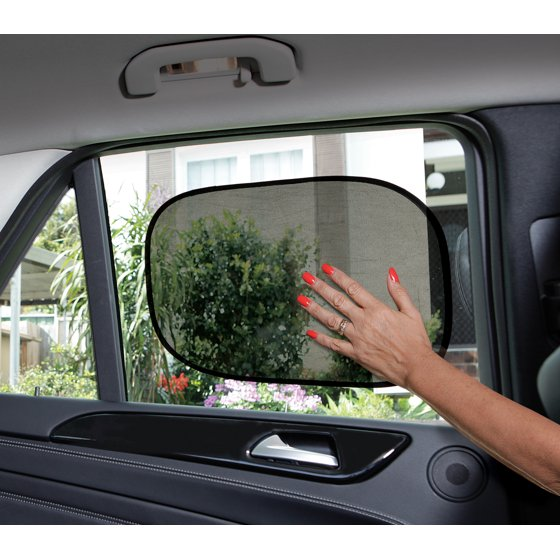 Sun /& UV Protection New Set of 2  Car Window Sun Shade Static Cling On  UPF 30