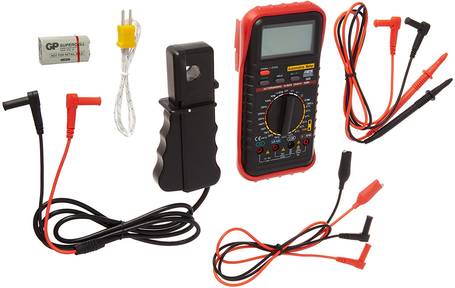Deluxe Multimeter Kit Automotive Meter with RPM and Temperature Tools Equipment Hand Tools