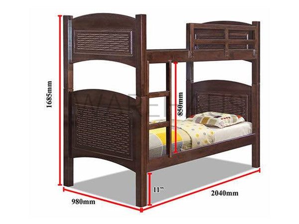 Calgary Double Deck Bunk Bed - simplehomefurn
