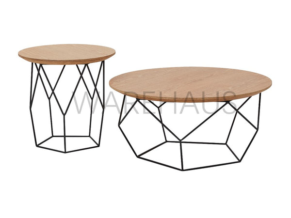 Cortado Coffee Table and Side Table Set - simplehomefurn