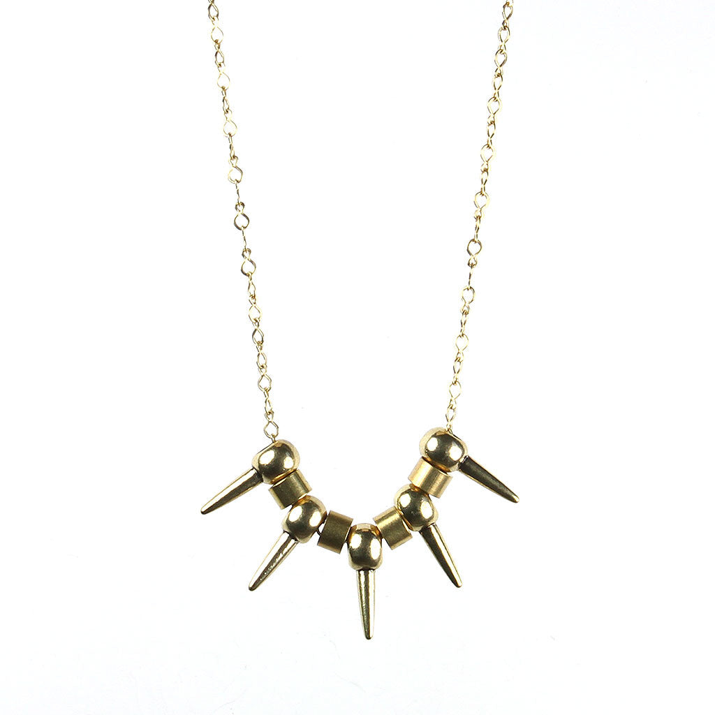 Spike Pendants Necklace