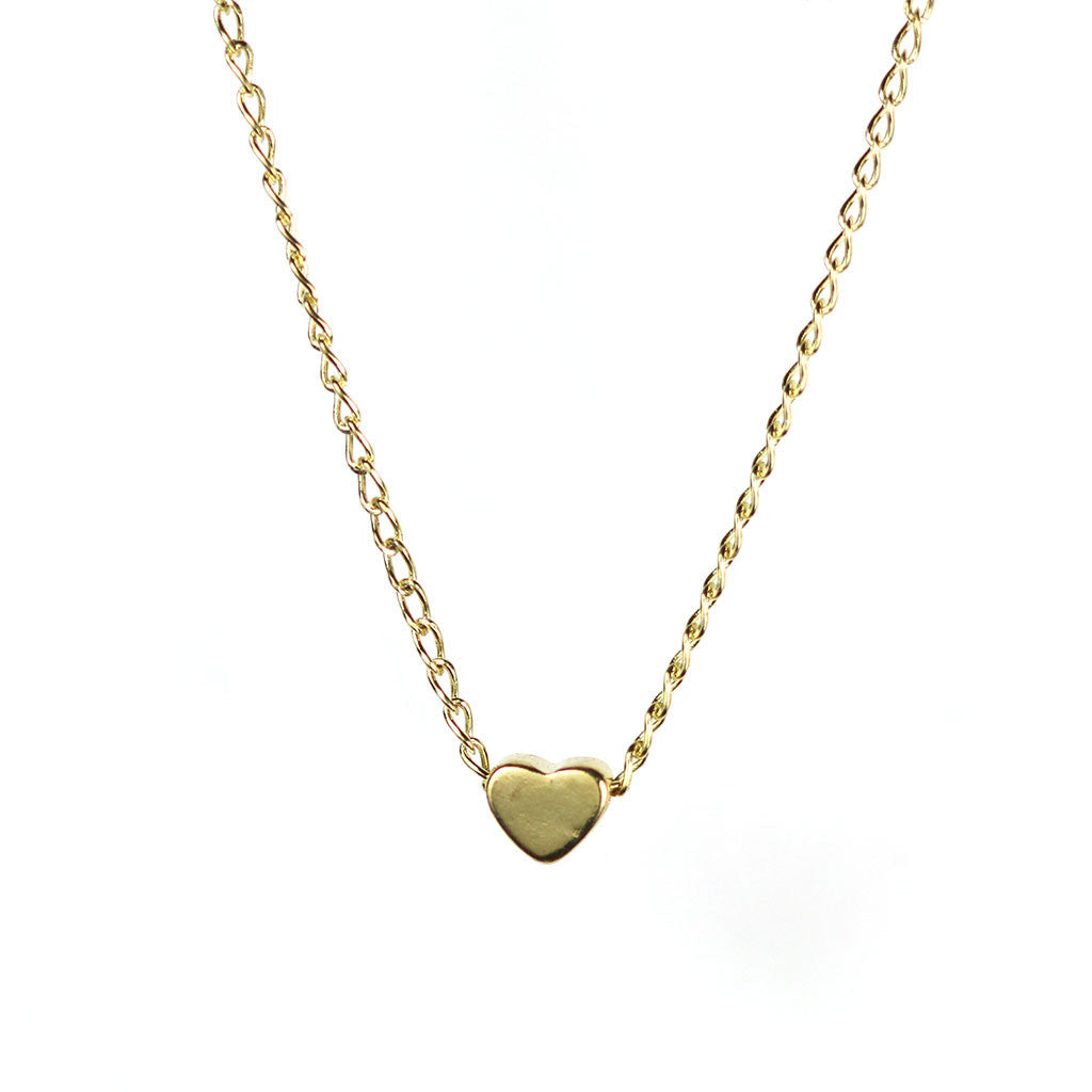 happiness solid gold necklace rose delicate en boutique in necklaces heart