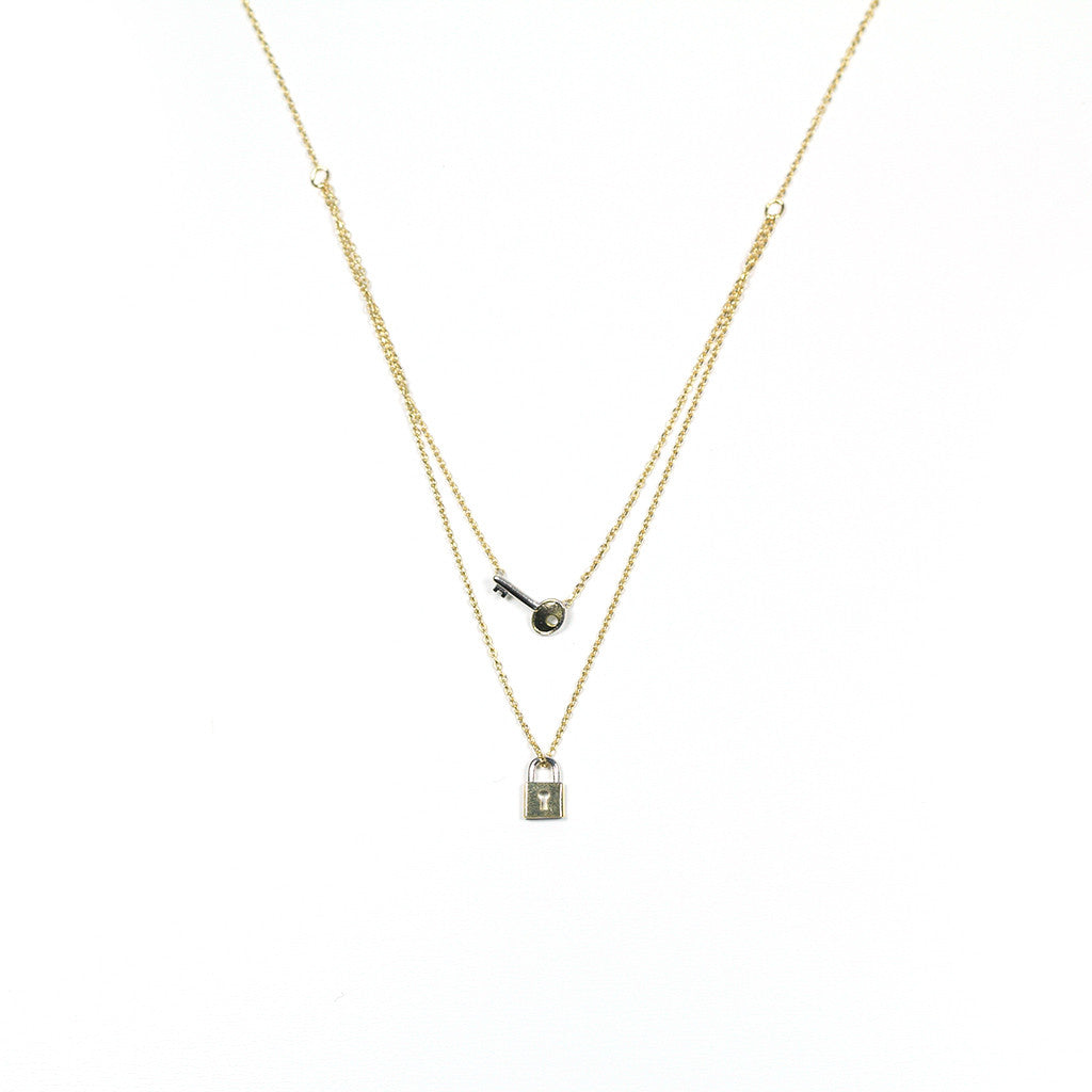 Key & locket necklace