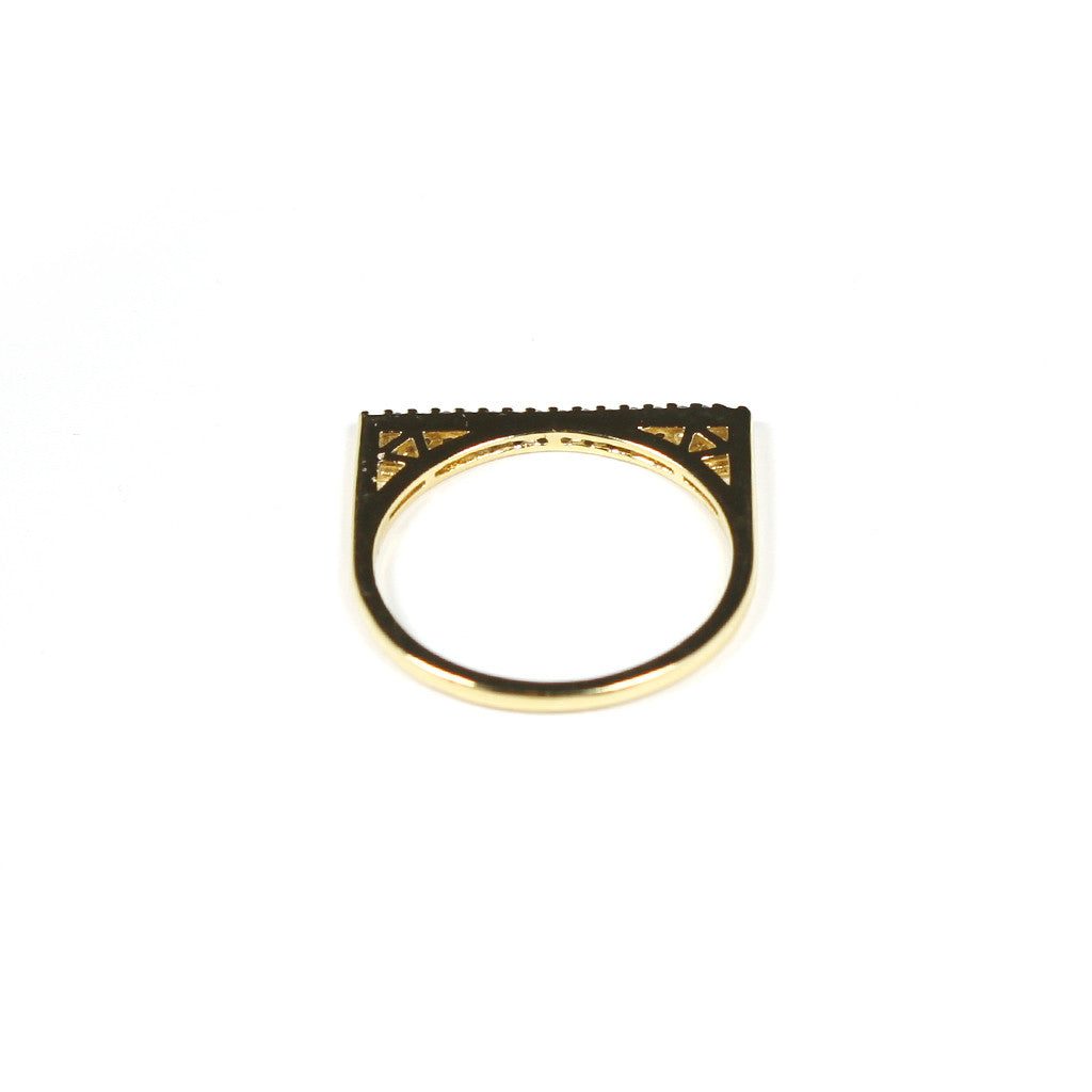 Slim Crystal Ring