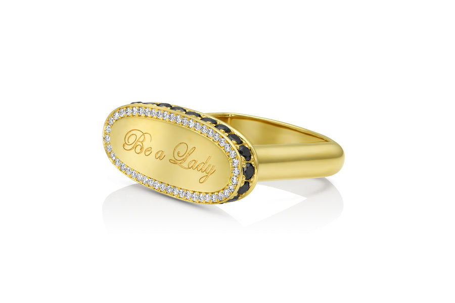 Be a Lady Signet Ring - Jo Latham