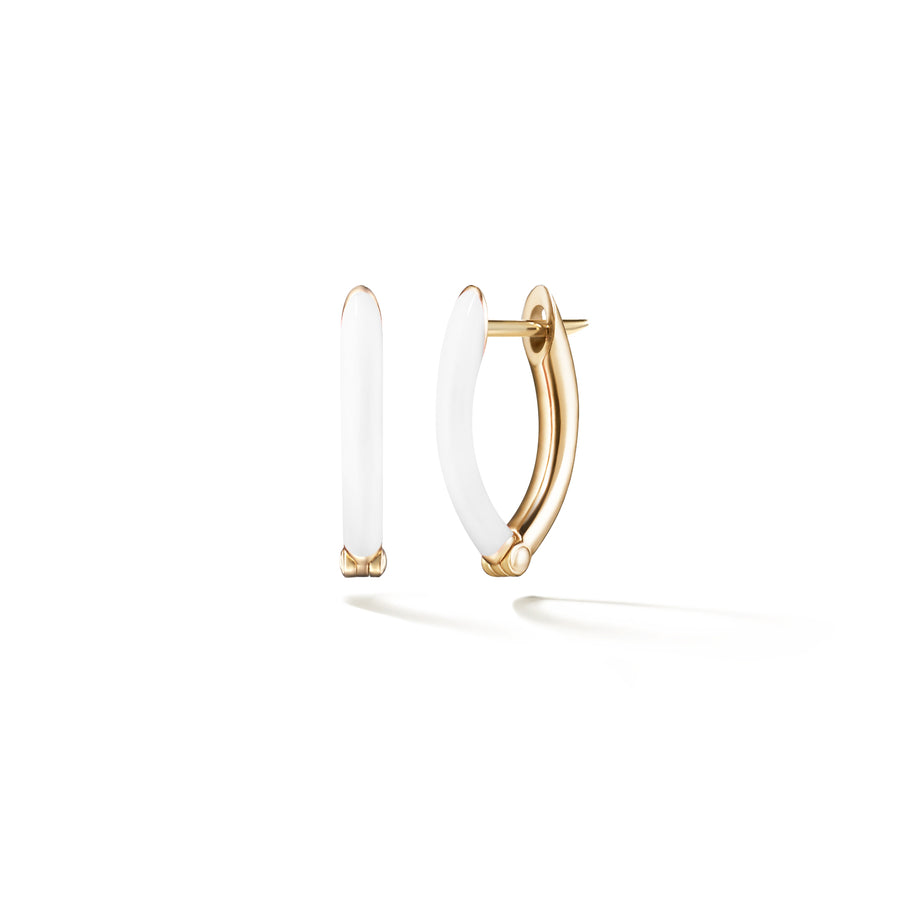 Cristina Earring Small - White - Jo Latham