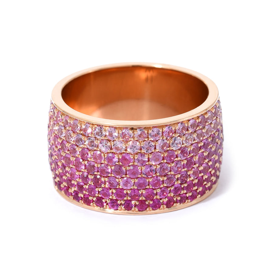 Borderless Ombre Pink Sapphire Cigar Band - Jo Latham