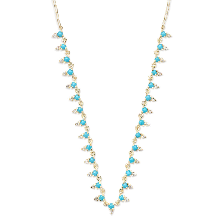 Deja Turquoise and Diamond Necklace - Jo Latham