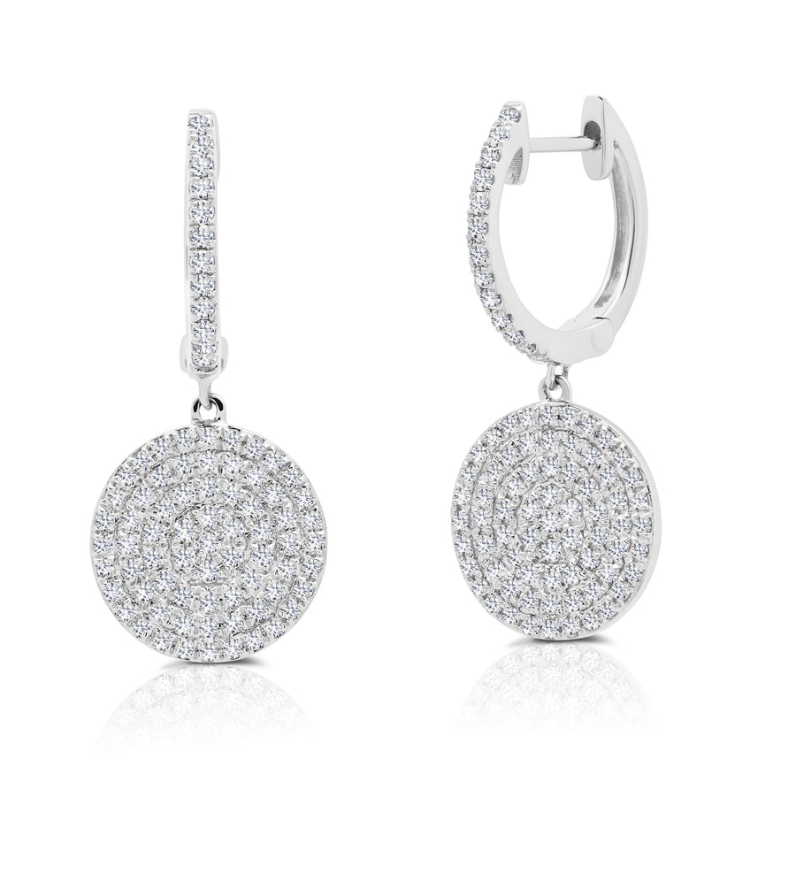 Diamond Disc Earrings - Jo Latham