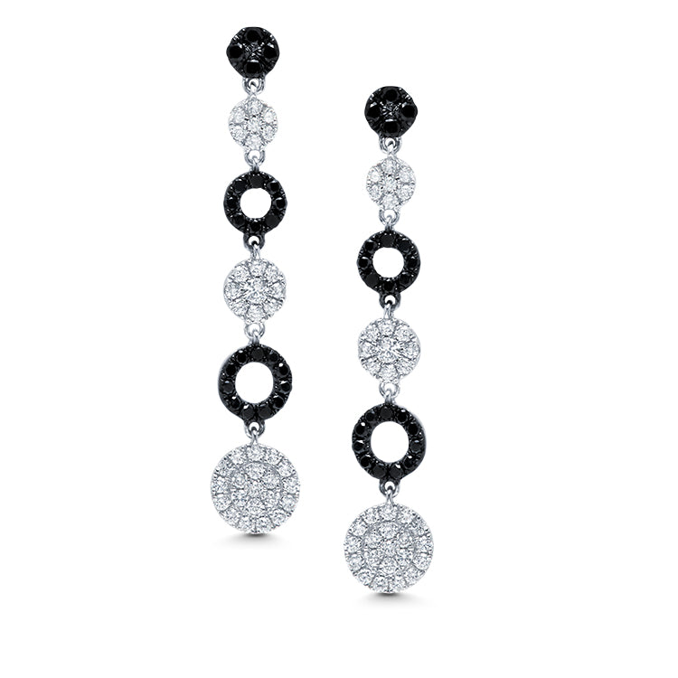 Black and White Cascade Earrings - Jo Latham