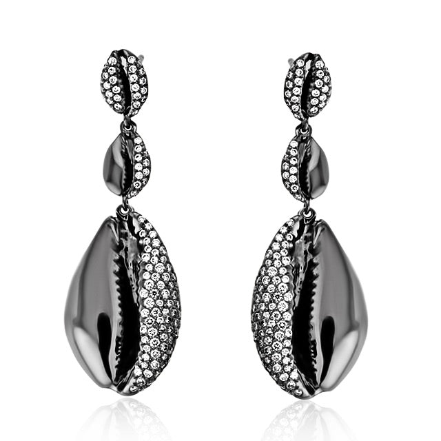 Le Cauri Endiamante Triple Drop Earring