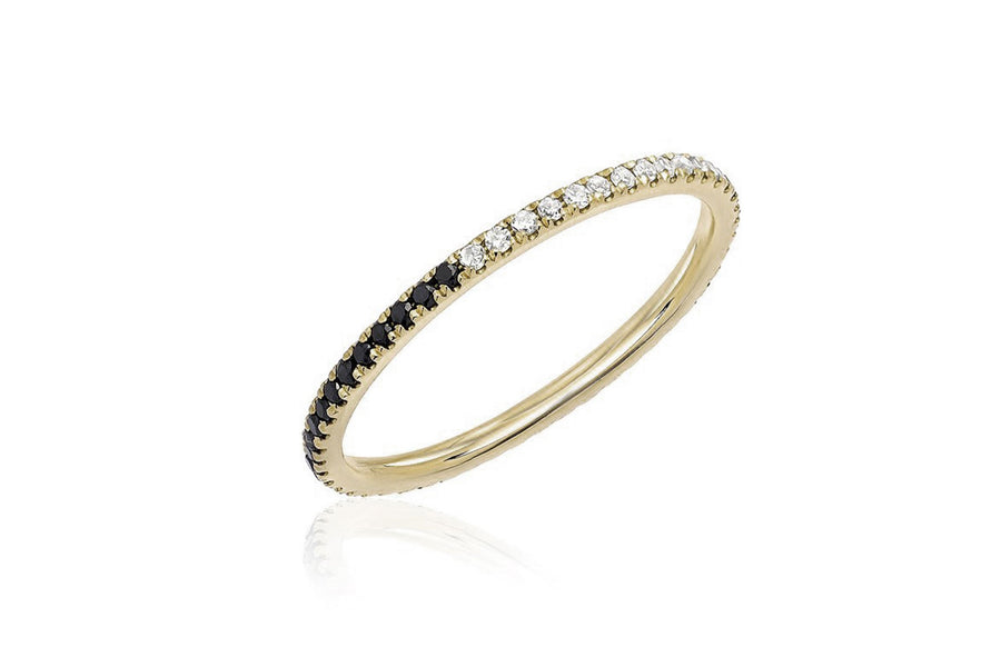 2-Tone Diamond Eternity Band - Jo Latham