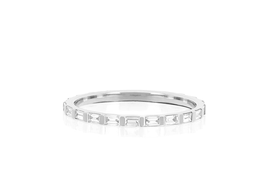 Half Diamond Baguette Eternity Band - Jo Latham