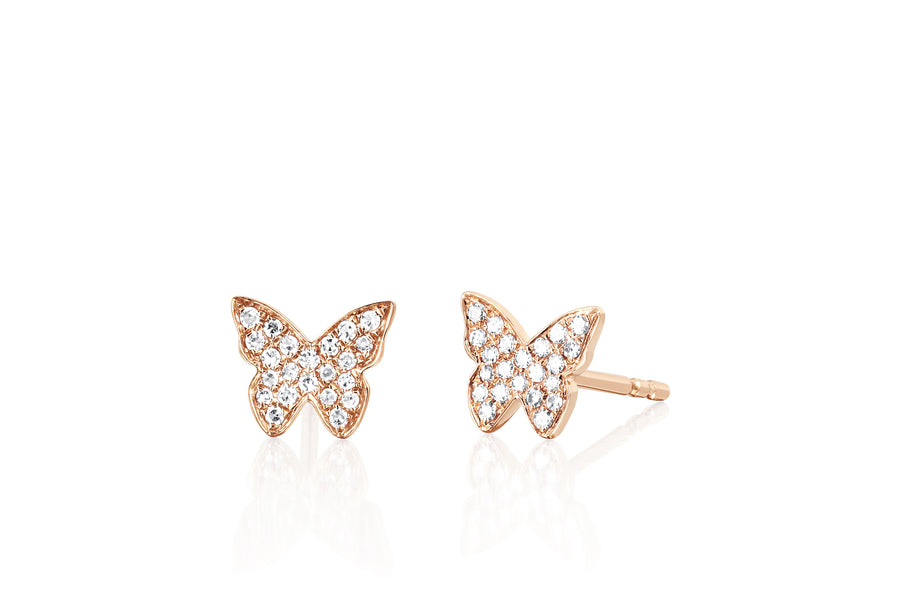 Diamond Butterfly Studs - Jo Latham