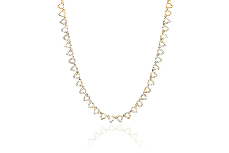 Half Diamond Open Teardrop Eternity Necklace - Jo Latham