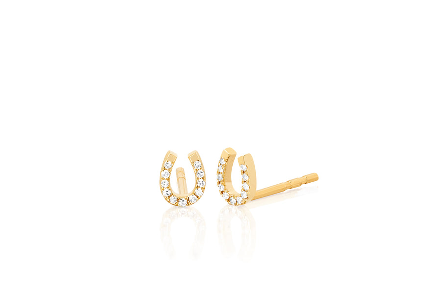 Diamond Horseshoe Studs - Jo Latham