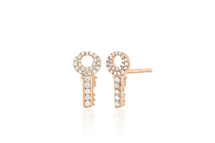 DIamond Key Studs - Jo Latham
