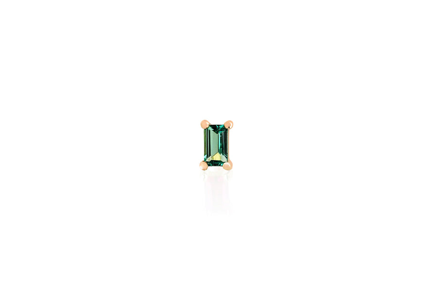 Emerald Baguette Stud - Single - Jo Latham