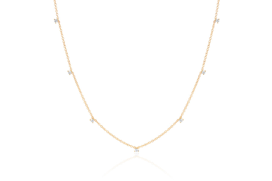 7 Prong Set Diamond Necklace - Jo Latham