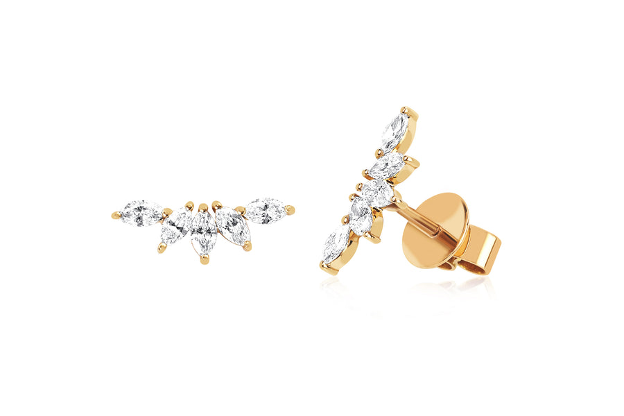 Diamond Marquise Fan Earring - Jo Latham