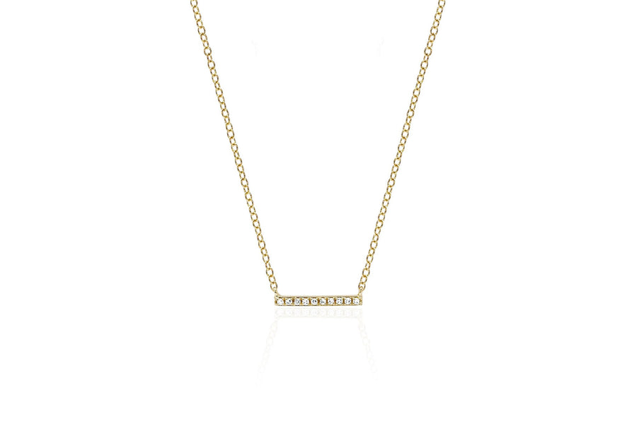 Mini Diamond Bar Necklace - Jo Latham