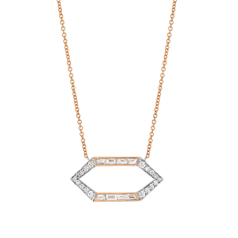 Open Hexagon Necklace - Jo Latham