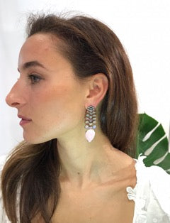 Fishbone Opal Earrings - Jo Latham