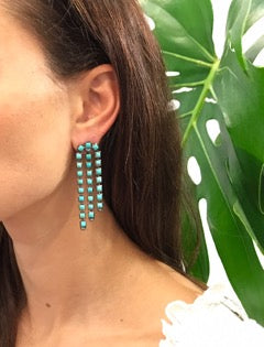 Sweep Turquoise and Opal Earring - Jo Latham