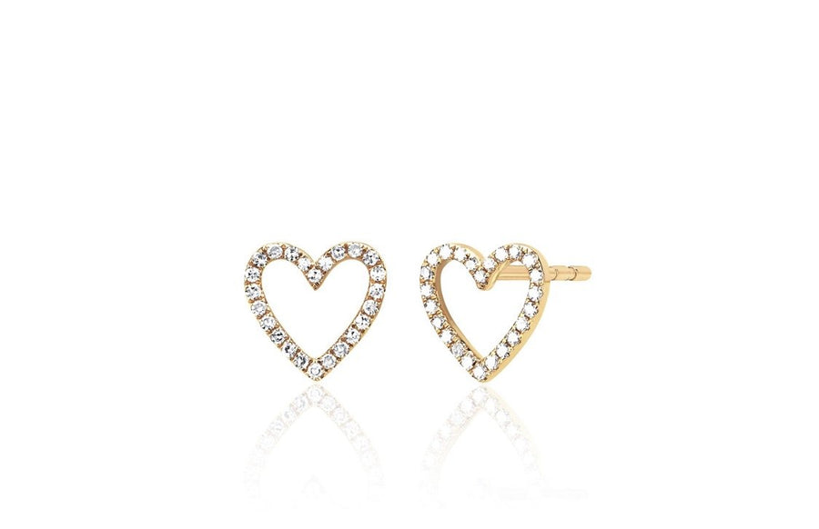 Open Heart Diamond Studs - Jo Latham
