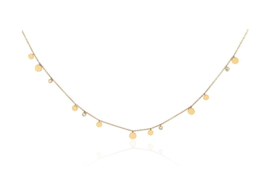 Gold and Diamond Confetti Necklace - Jo Latham