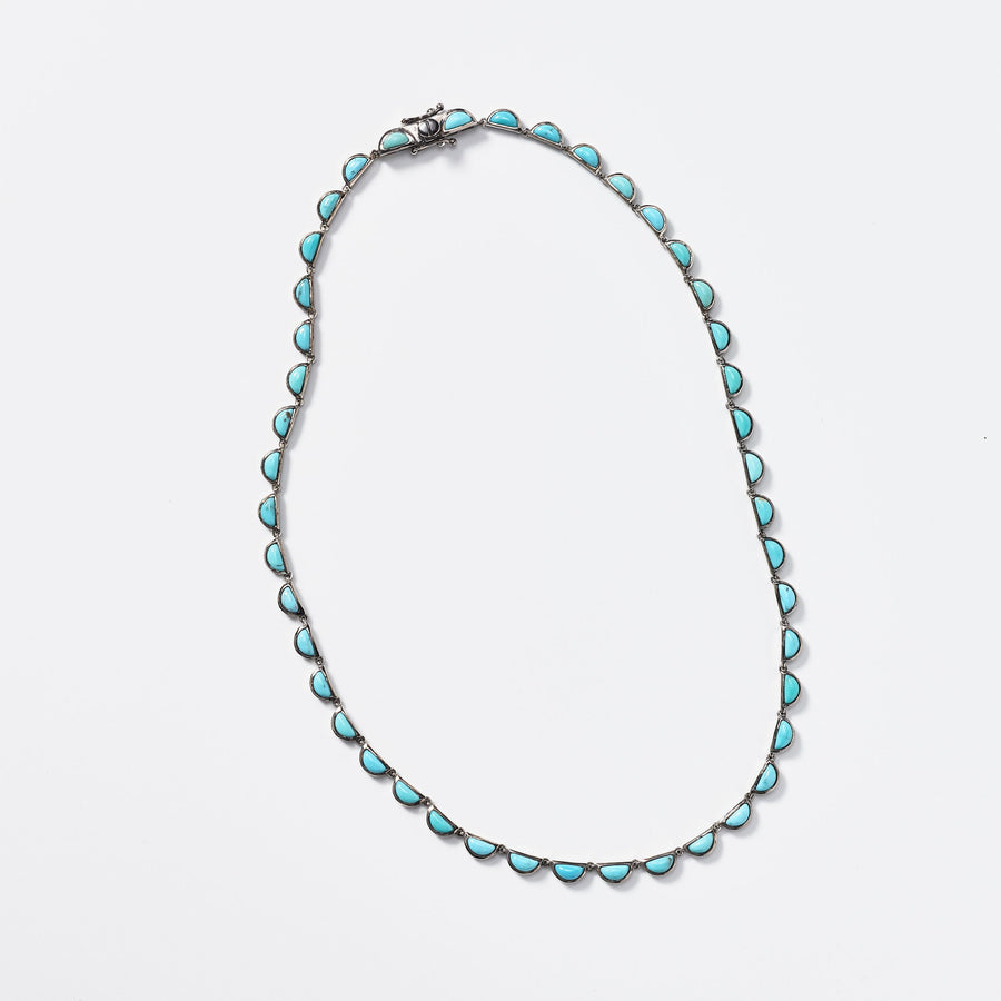 Turquoise Scallop Necklace - Jo Latham