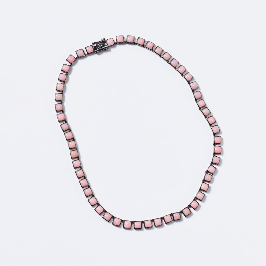 Pink Opal Tile Necklace - Jo Latham