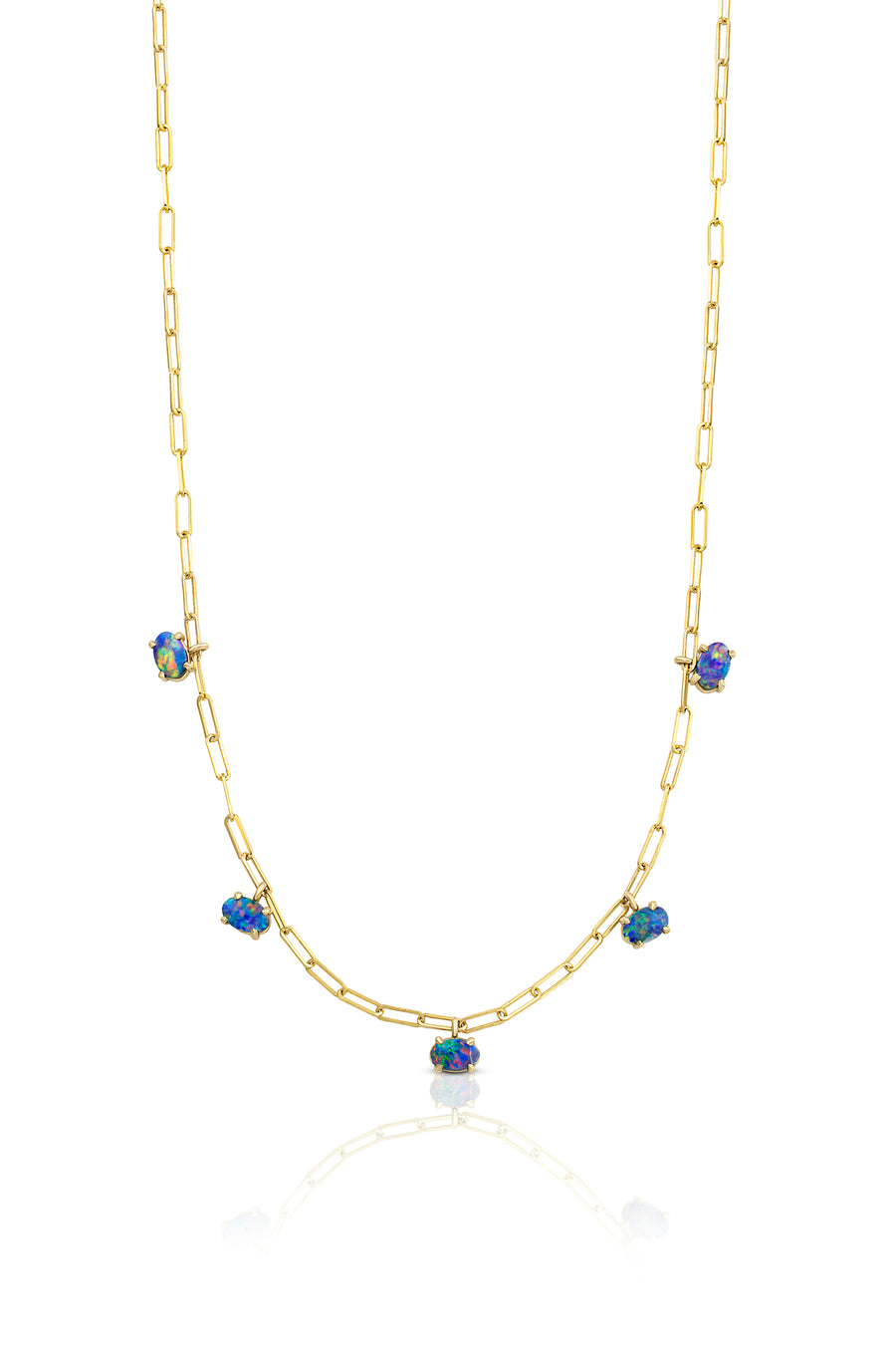 Gemdrop Necklace - 5-Stone - Opal