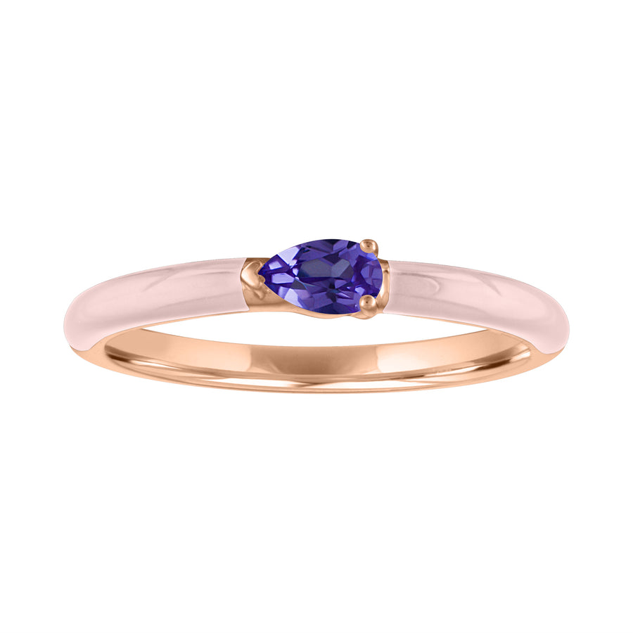 The Quinn Enamel Stacking Band - Amethyst