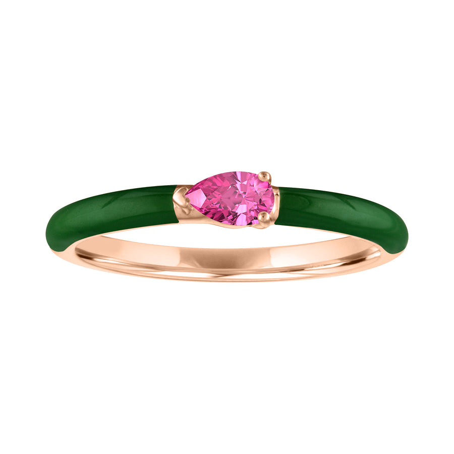 The Quinn Enamel Stacking Band - Tourmaline