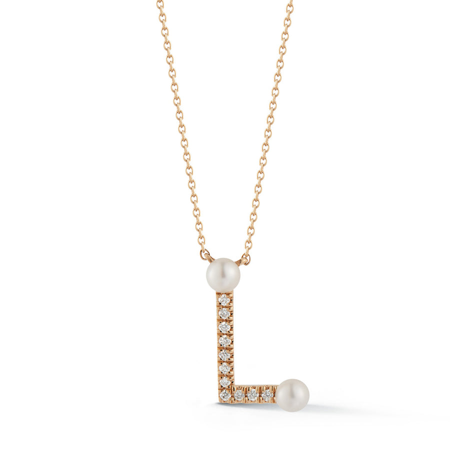 Pearl Ivy Initial Necklace